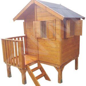 .Drevený detský domček BETTY 1,6 m x 1,8 m (15 mm hrúbka steny)