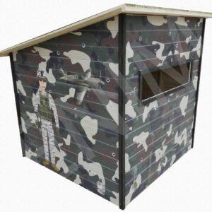 Drevený detský domček BUNKER 1,5 m x 1,5 m