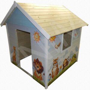 Drevený  záhradný detský domček DÚHA 1,5 m x 1,5 m