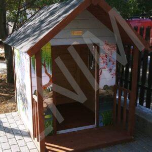 Detský drevený záhradný domček SLONĺK 1,2 m x 1,7 m