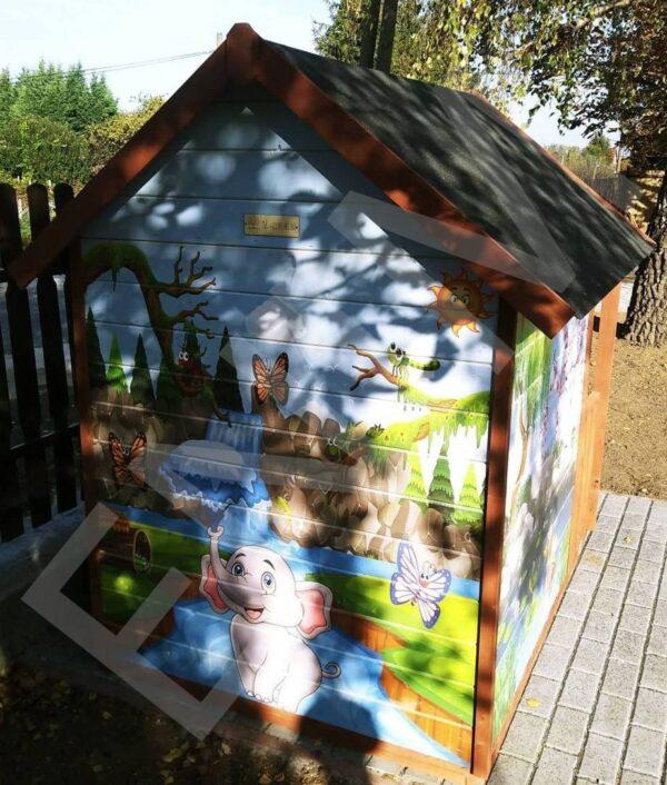 Detsky dreveny domček sloník Enim, Rožnava