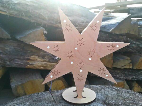 vianocna drevena dekoracia hviezda, Enim