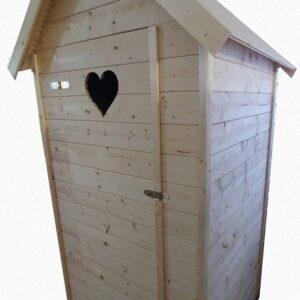 Drevená latrína/kadibudka/suché WC  1 m x 1 m