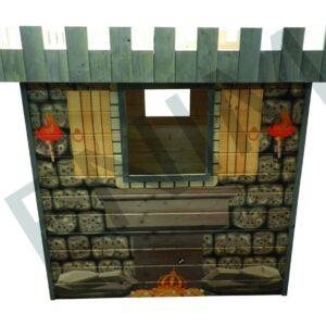 Detský drevený záhradný domček DRAK  1,5 m x 1,5 m