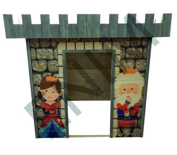 Drevený detský domček Drak a princezná - Enim