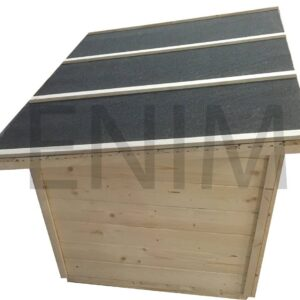 Búda pre psa plochá strecha XXL – 1,2 m x 1 m x 0,8 m