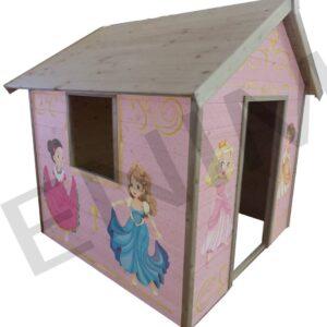 Drevený záhradný detský domček PRINCEZNÁ 1,5 m  x 1,5 m