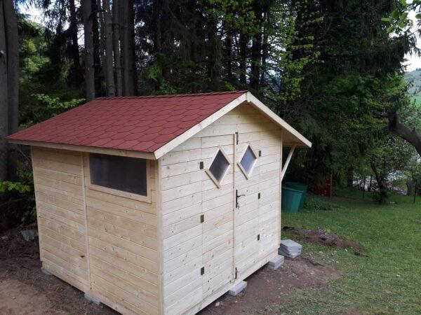 drevený domček, záhradný domček z dreva