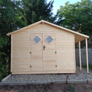 Drevený záhradný domček GALERIUS – 3 m x 3 m ( 15 mm/20 mm hrúbka steny)