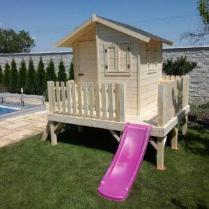 .Drevený detský domček OLIVIA 1,8 m x 2,2 m (15 mm hrúbka steny)