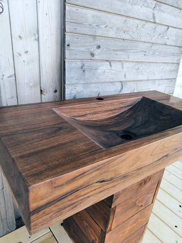 drevené umývadlo, orech, umývadlo z orechu
