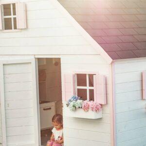 .Drevený detský domček GLÓRIA- poschodový